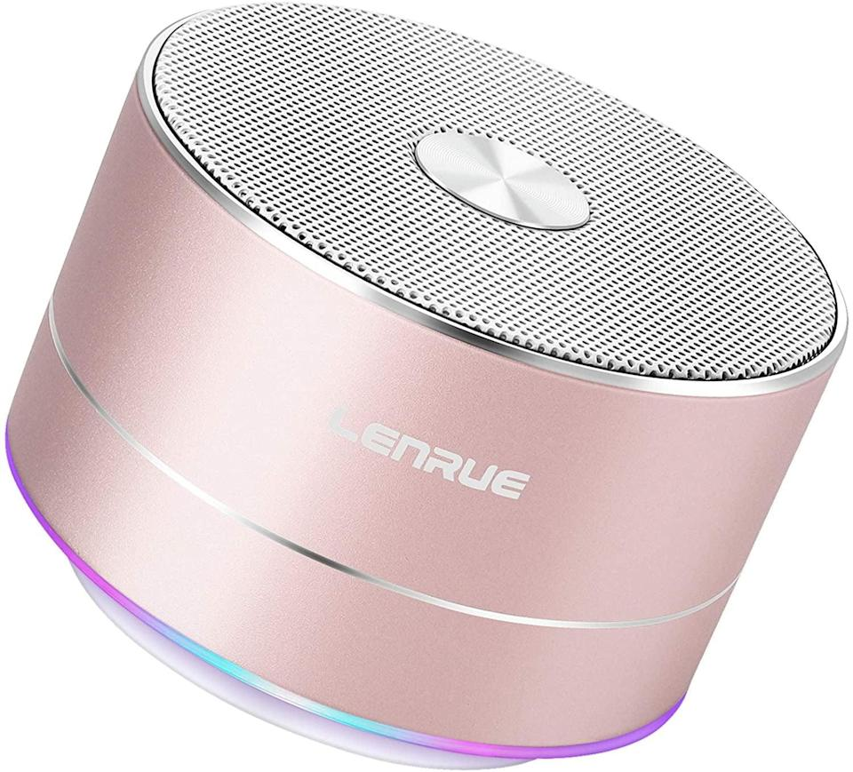 <p>The <span>A2 LENRUE Portable Wireless Bluetooth Speaker with Built-in-Mic</span> ($16) will let them jam out to thier favorite playlists or listen to their podcasts in peace.</p>