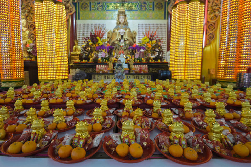 The temple is expecting 240 visitors a day for the following dates: February 11, 12 and 19 (when Chinese from the Hokkien clan celebrate the Jade Emperor God or 'Thee Kong'); and visiting hours are from 6am to 2pm. — Picture by Miera Zulyana