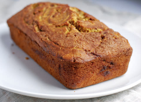 "<div class=""caption-credit""> Photo by: Brooklyn Supper</div><div class=""caption-title"">Cinnamon Pumpkin Bread</div>Cinnamon sugar is the perfect compliment to this flavorful pumpkin bread made with fresh pumpkin. <br> <i><a rel=""nofollow"" href=""http://blogs.babble.com/family-kitchen/2012/11/03/cinnamon-pumpkin-bread-an-instant-holiday-classic/"" target=""_blank"">Make cinnamon pumpkin bread</a></i> <br>"