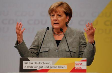 German Chancellor Merkel starts the CDU's election campaign rally for Germany's general eletion in Dortmund