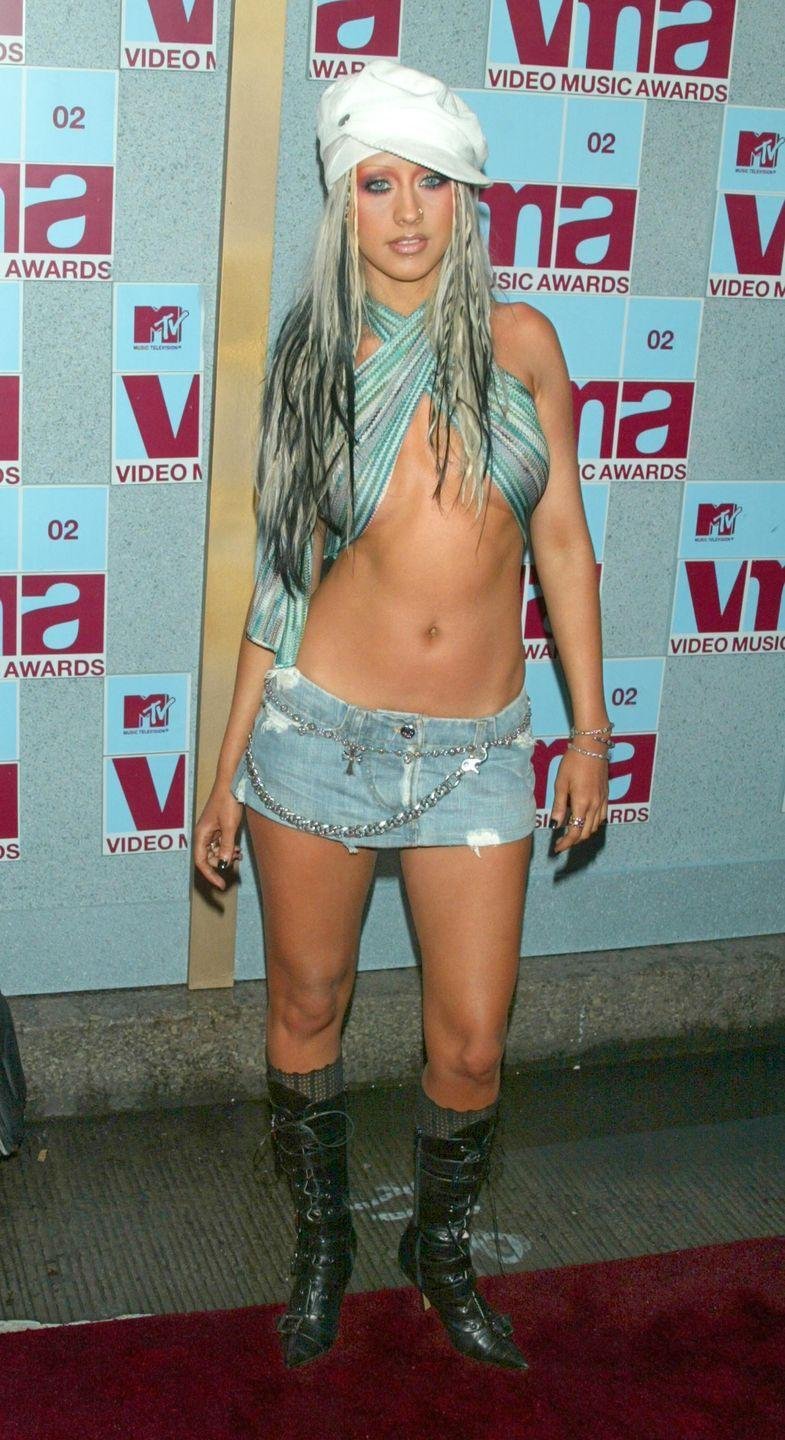 <p>Christina Aguilera invented the underboob trend in 2002 - boy do we wish it could be uninvented.</p>