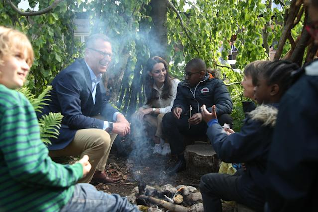 Kate created a garden last year aimed at young children. (Getty Images)