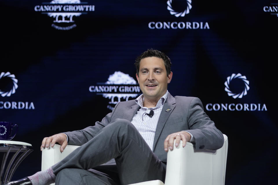 NEW YORK, NEW YORK - SEPTEMBER 23: Mark Zekulin, Chief Executive Officer, Canopy Growth Corporation, speaks onstage during the 2019 Concordia Annual Summit - Day 1 at Grand Hyatt New York on September 23, 2019 in New York City. (Photo by Riccardo Savi/Getty Images for Concordia Summit)