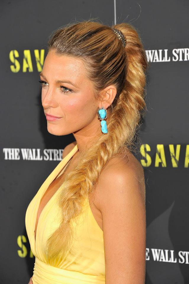 <p>Lively's fishtail pony from the premiere of <strong>Savages</strong> in 2012 still gives us chills for being one of the hottest hairstyles we've ever seen grace the red carpet.</p>