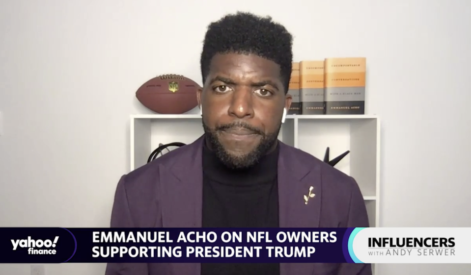 "Emmanuel Acho, a Fox Sports host and former NFL linebacker, joins ""Influencers with Andy Serwer."""
