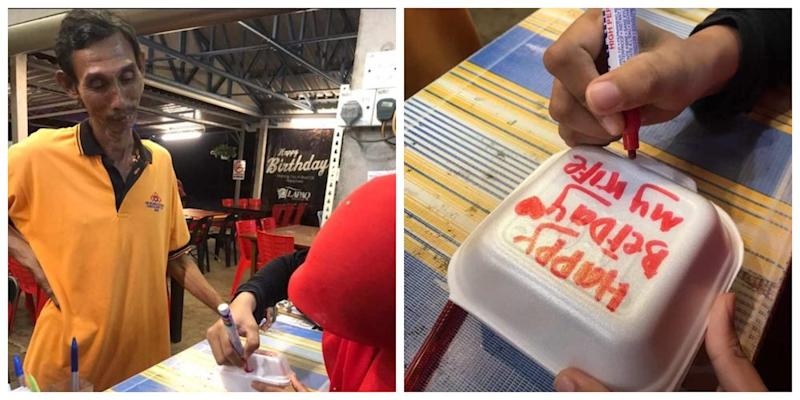 The touching gesture even grabbed the attention of cake company Secret Recipe. – Picture via Twitter/@ammnslhn