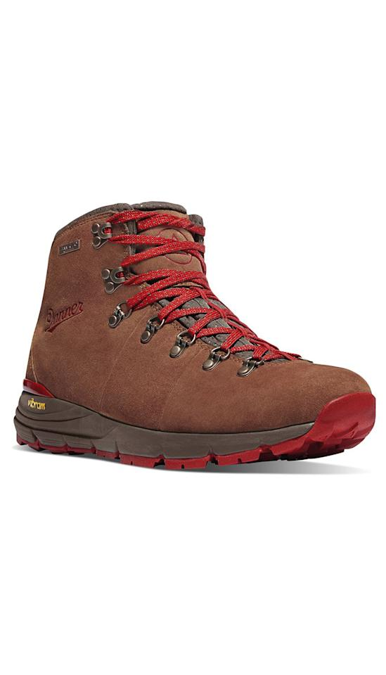 "<p><strong>Danner</strong></p><p>amazon.com</p><p><strong>$179.95</strong></p><p><a href=""http://www.amazon.com/dp/B01B3ZSU4I/?tag=syn-yahoo-20&ascsubtag=%5Bartid%7C2140.g.19978510%5Bsrc%7Cyahoo-us"" target=""_blank"">Shop Now</a></p><p>If you ask <a href=""http://www.mymountaintherapy.com/#our-story"" target=""_blank"">Holly Johnson</a>, a backpacker and hiker, these boots are IT because of their Vibram midsole, which she says makes them super-comfy and way ""more flexible than the brand's classic style."" And then there's the fact that she didn't have to break them in which made her an even bigger fan. ""I found them to be extremely comfortable straight out of the box; [they] offer good stability and they are waterproof""—the ultimate cherry on top for outdoorsy pros. </p>"