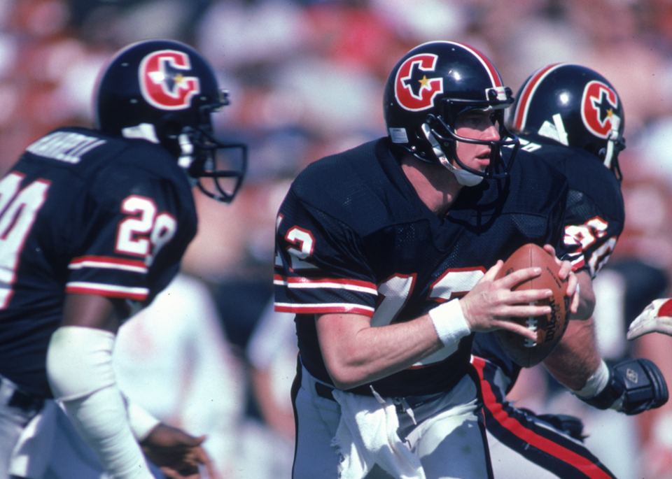 Jim Kelly began his pro football career in the USFL. (Getty)
