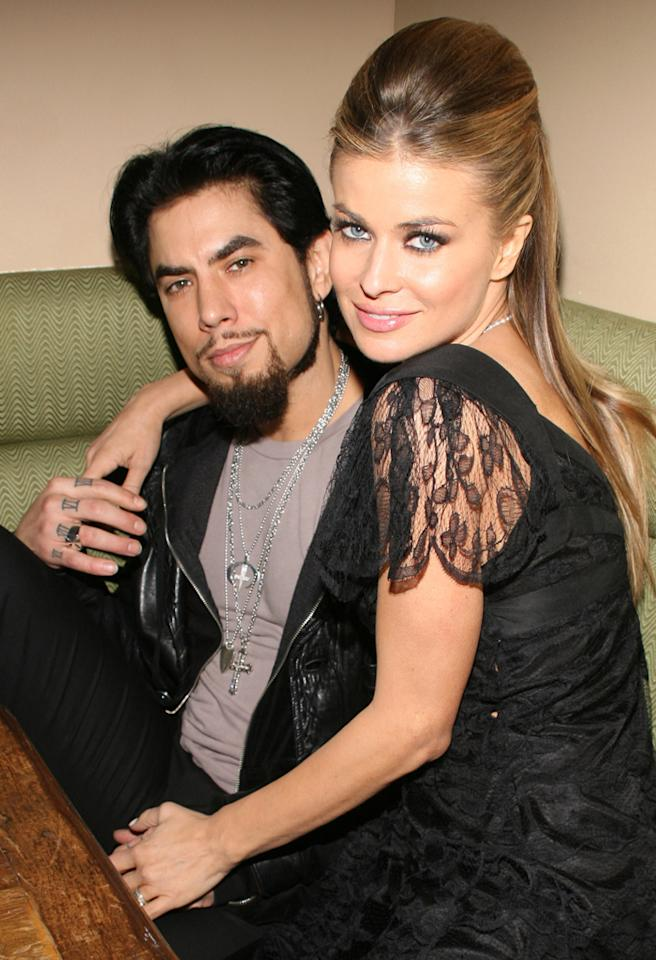 "Dave Navarro and Carmen Electra during Dimension Films' ""Scary Movie 4"" inside afterparty at Providence in New York, New York, United States. ***Exclusive*** (Photo by Sylvain Gaboury/FilmMagic)"
