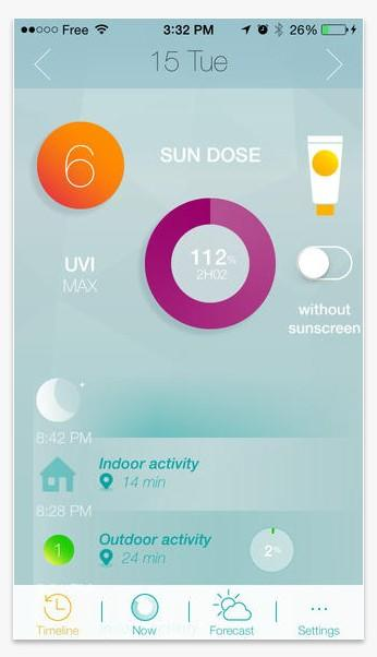 Screenshot of Netatmo June app