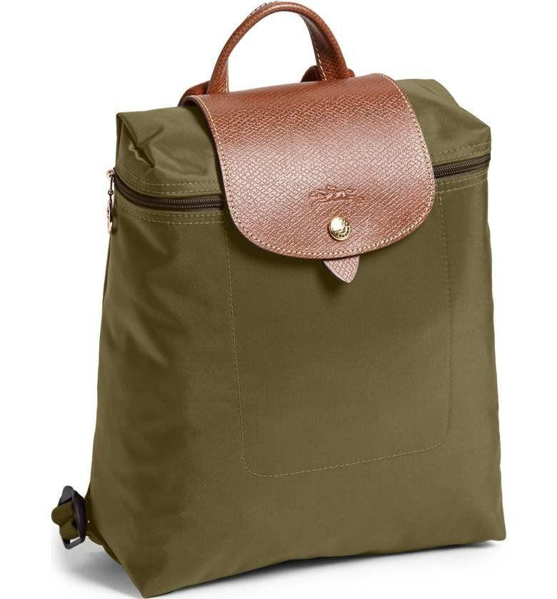 "This durable, water-resistant <a href=""https://shop.nordstrom.com/s/longchamp-le-pliage-backpack/3023122?origin=category-personalizedsort&fashioncolor=CURRY"" target=""_blank"">nylon backpack</a> is stylish but also incredibly functional."