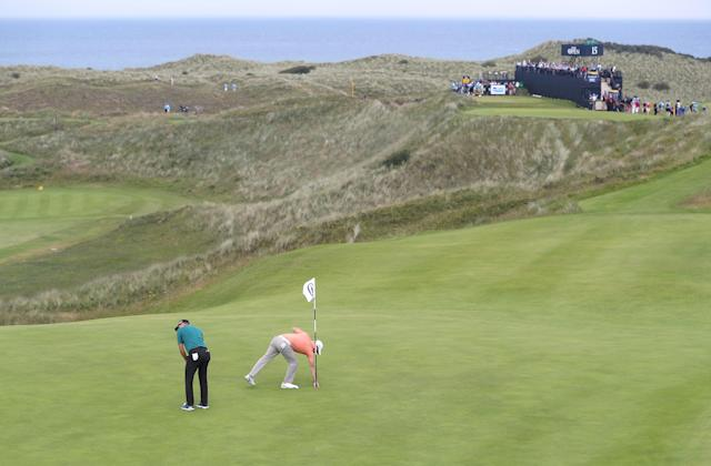 The 16th hole at Royal Portrush is one of many challenging holes. (Getty)