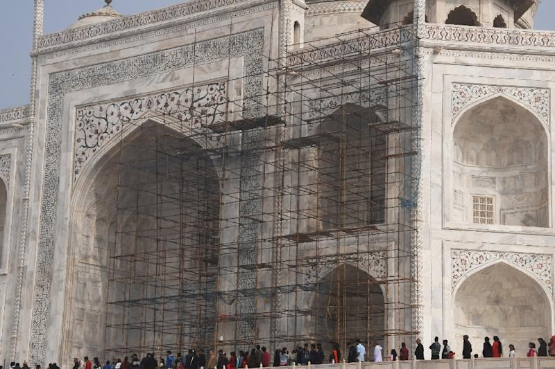 Restoration work at the Taj Mahal has dragged on for years, blighting views for tourists