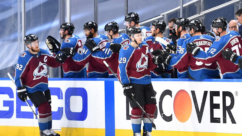 Nathan MacKinnon proved to be unstoppable as the Colorado Avalanche eliminated the Arizona Coyotes. (Photo by Andy Devlin/NHLI via Getty Images)