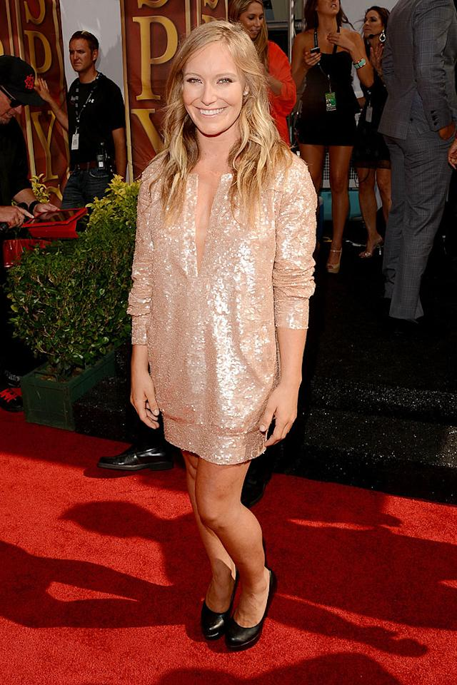 Pro snowboarder Jamie Anderson arrives at the 2012 ESPY Awards.