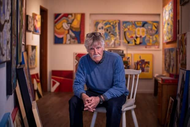 David Laird in his Vancouver studio on Thursday.  (Ben Nelms/CBC - image credit)