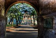 """<p><strong>Established in 1770</strong></p><p><strong>Location: Charleston, South Carolina<br></strong></p><p>The College of Charleston is known as the <a href=""""http://cofc.edu/about/historyandtraditions/briefhistory.php"""" rel=""""nofollow noopener"""" target=""""_blank"""" data-ylk=""""slk:oldest educational institution"""" class=""""link rapid-noclick-resp"""">oldest educational institution</a> south of Virginia, and was founded in a time when only wealthy families sent their sons to college. It's also the oldest college in South Carolina. </p>"""