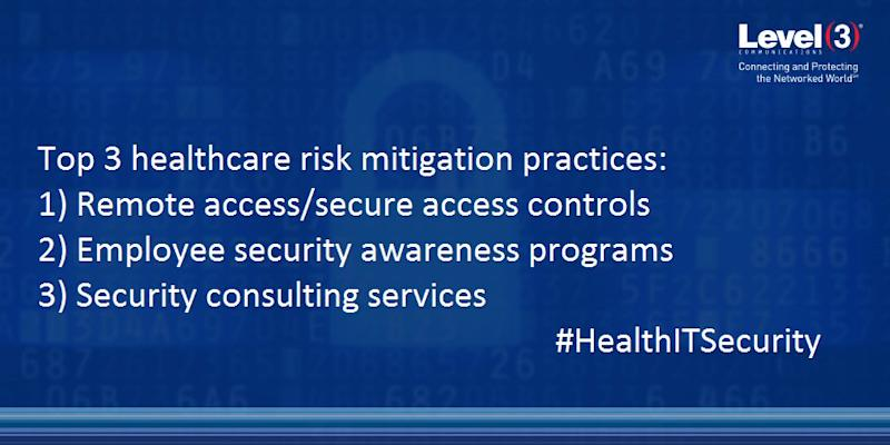 Most organizations employ the following practices: remote access/secure access controls, employee security awareness programs and security consulting services like vulnerability assessments and penetration testing.