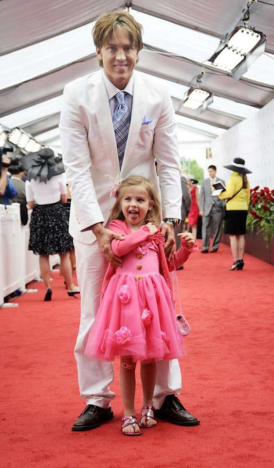 "We're not quite sure why Larry Birkhead brought his daughter Dannielynn -- whose mom is late actress Anna Nicole Smith -- to the grown-up event, but she sure looks adorable in her pink party dress and matching Band-Aid. Jeff Gentner/<a href=""http://www.gettyimages.com/"" target=""new"">GettyImages.com</a> - May 1, 2010"