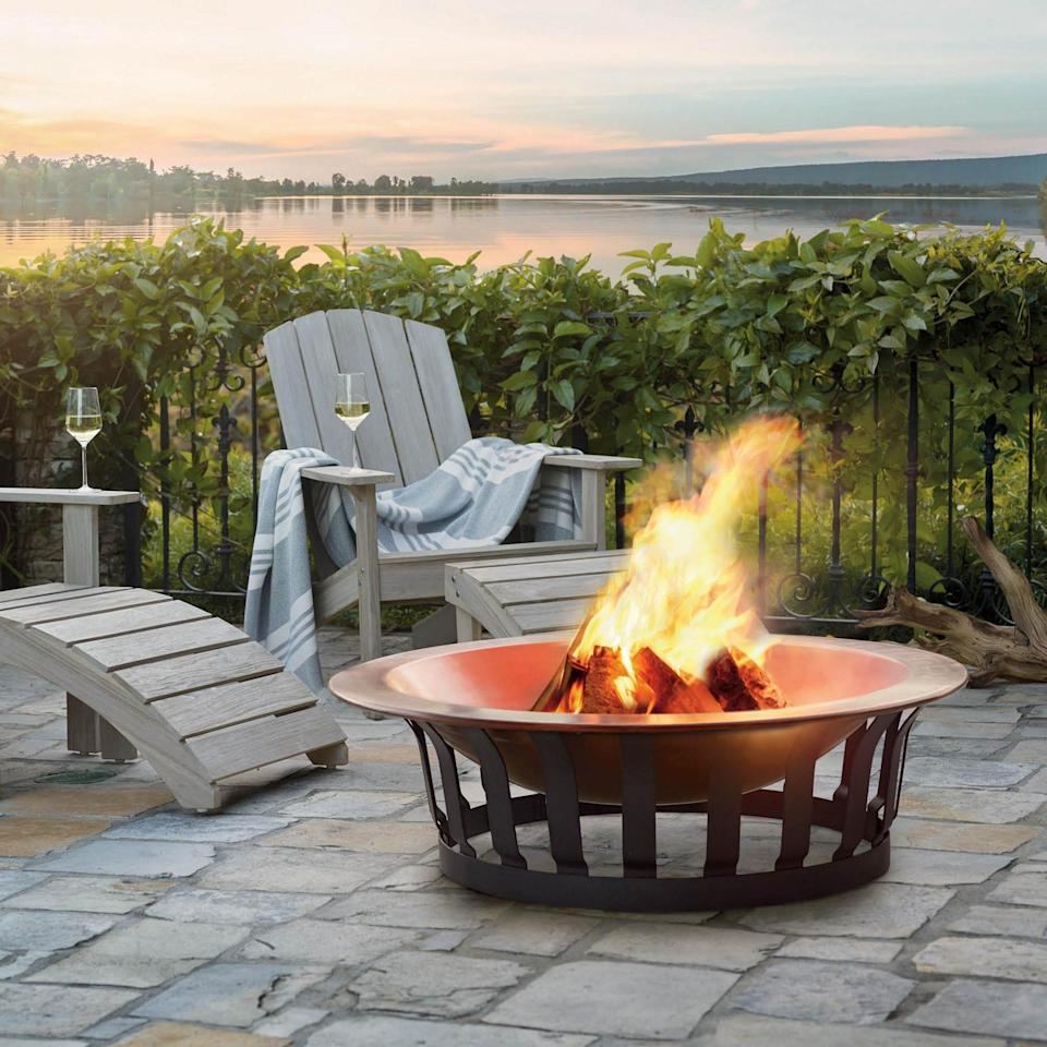 "<p>This sleek wood-burning firepit won't go out of style.</p> <p><strong>BUY IT:</strong> $499; <a href=""https://www.frontgate.com/classic-copper-fire-pit/outdoor-furniture/fire-pits/1241448?listIndex=0&uniqueId=1241448"" rel=""nofollow noopener"" target=""_blank"" data-ylk=""slk:frontgate.com"" class=""link rapid-noclick-resp"">frontgate.com</a> </p>"