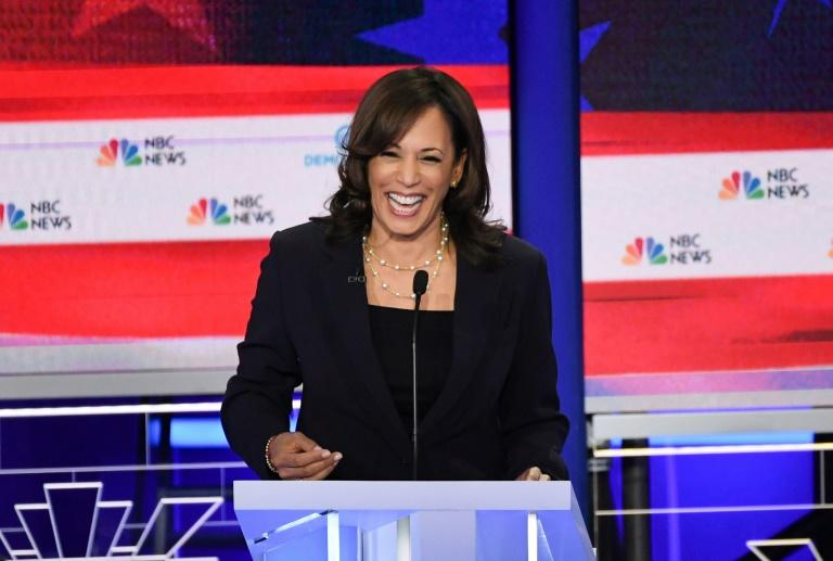Democratic presidential hopeful Senator Kamala Harris had a breakout night on the debate stage in Miami, Florida (AFP Photo/SAUL LOEB)