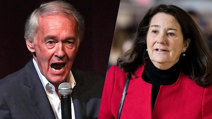 Sen. Edward Markey and Rep. Diana DeGette. (Barry Chin/The Boston Globe via Getty Images, Bill Clarke/CQ Roll Call via Getty Images)