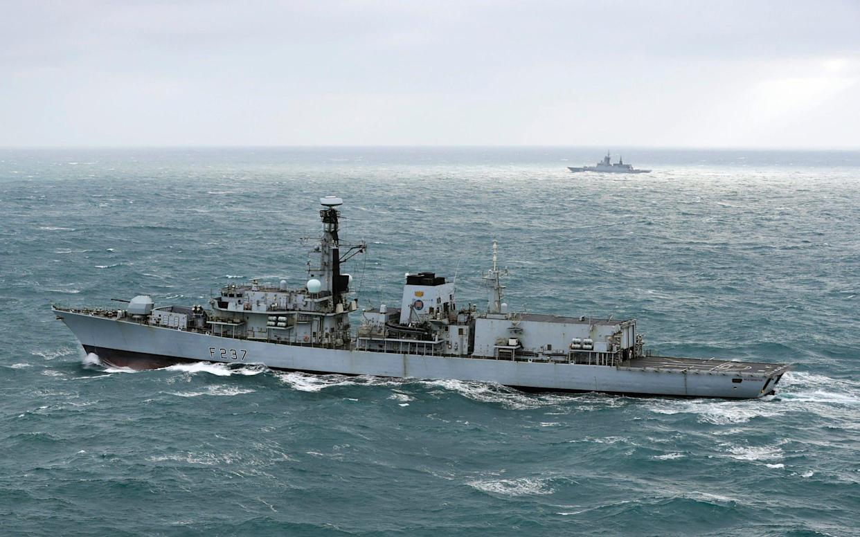 HMS Westminster escorted Russian ships through the English Channel - FRPU (E) Royal Navy