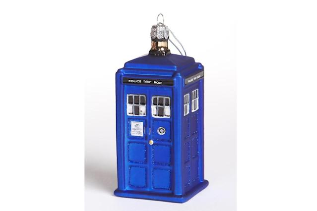 "<p>The iconic police booth/time traveling machine is a perfect way to celebrate the arrival of the newest Doctor, played for the first time by a woman — Jodie Whittaker, who takes over from Peter Capaldi during the show's Christmas special. <strong><a href=""https://www.amazon.com/dp/B009QPINS6/ref=cm_sw_r_cp_ep_dp_qqYhAbK2VEYJ8"" rel=""nofollow noopener"" target=""_blank"" data-ylk=""slk:Buy here"" class=""link rapid-noclick-resp"">Buy here</a></strong> </p>"
