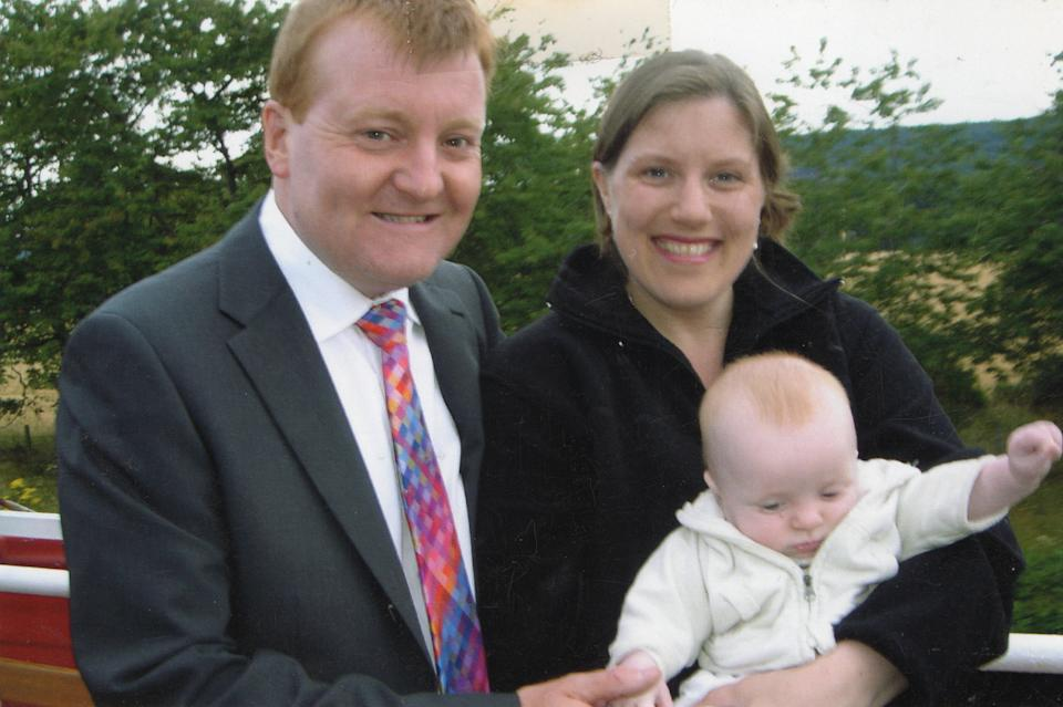 Charles Kennedy with his then wife Sarah and their son Donald in 2005