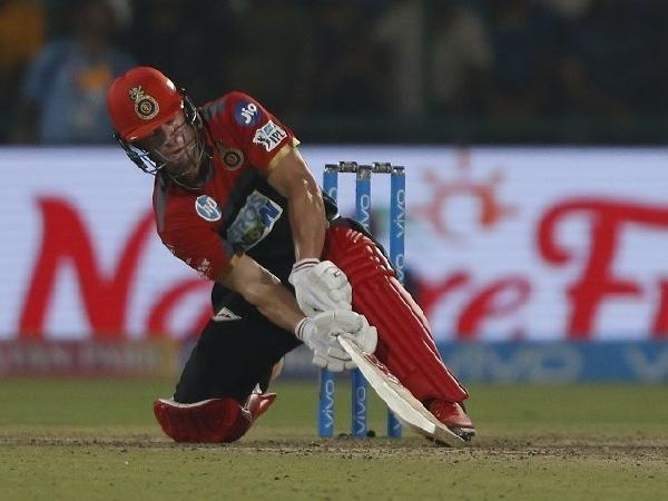 ABD playing one of the many unorthodox shots in his arsenal