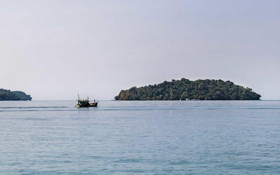 Krabey Island, in the Gulf of Thailand, is a 15-minute boat tide from Cambodia's southern shore.   Christopher Wise