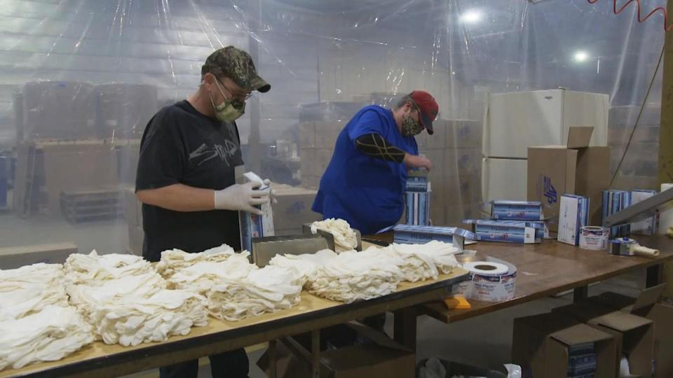 A $22 million contract from the Air Force led to the hiring of 100 new workers at American Performance Polymers in northern New Hampshire, home to the only American-owned nitrile glove factory in the country. (NBC News)