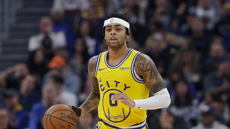 D'Angelo Russell。(AP Photo/Jeff Chiu)