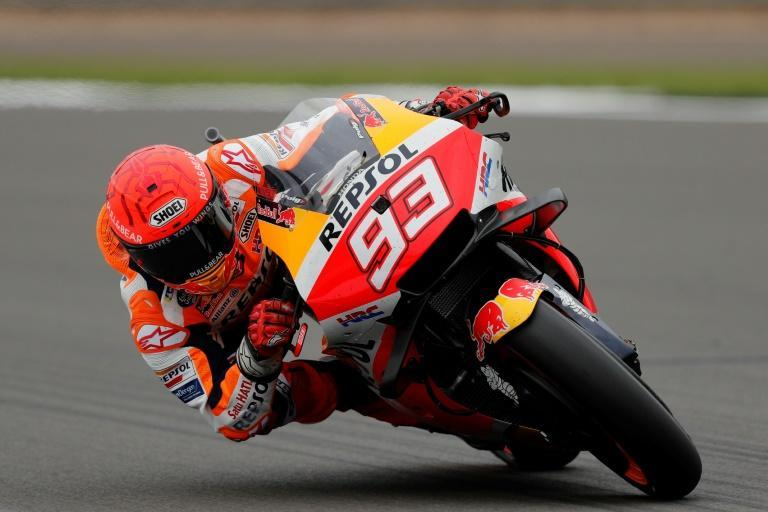 Marc Marquez has won five times at his home track in Aragon (AFP/Adrian DENNIS)