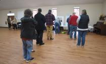 Photo by Matt Hamilton / Voters wait in line at a polling place at Dawnville United Methodist Church in Dawnville, Ga., on Tuesday, Jan. 5, 2021. (Matt Hamilton/Chattanooga Times Free Press via AP)