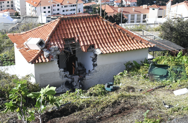 House damaged in the crash which left 29 people dead.