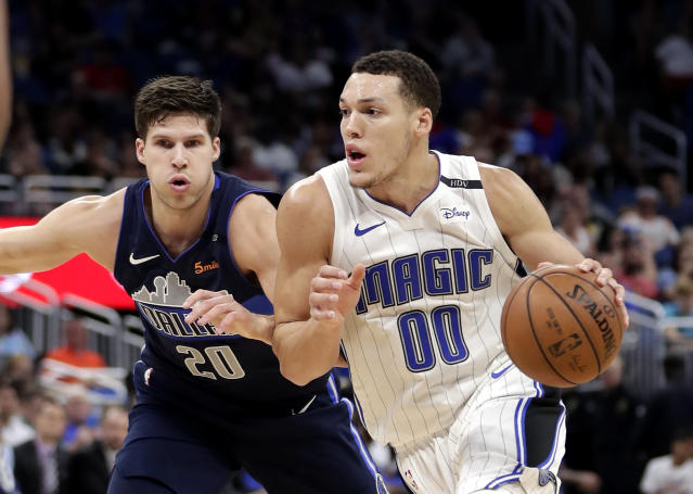 "Orlando Magic's <a class=""link rapid-noclick-resp"" href=""/nba/players/5295/"" data-ylk=""slk:Aaron Gordon"">Aaron Gordon</a> became a top-100 player. (AP Photo/John Raoux)"