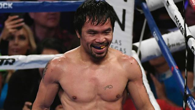 Manny Pacquiao, 40, will face undefeated American Keith Thurman on July 20.