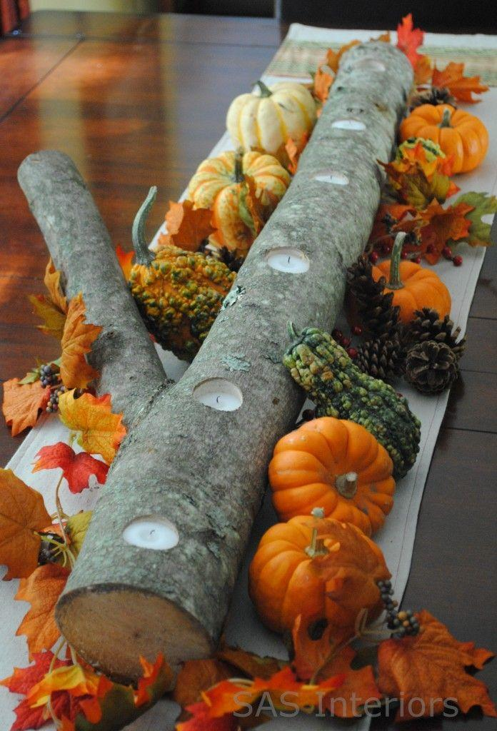 "<p>Make your dinner spread look like a woodland fairytale with this log centerpiece. <a href=""https://www.jennaburger.com/2011/10/5-minute-autumn-centerpiece/"" rel=""nofollow noopener"" target=""_blank"" data-ylk=""slk:Designer Jenna Burger"" class=""link rapid-noclick-resp"">Designer Jenna Burger</a> used a tree she was going to get rid of from her yard and drilled small holes for votives. Another plus? The whole process only takes about five minutes.</p><p><a class=""link rapid-noclick-resp"" href=""https://go.redirectingat.com?id=74968X1596630&url=https%3A%2F%2Fwww.michaels.com%2Fwhite-mini-votive-led-candle-set-by-ashland%2F10466485.html&sref=https%3A%2F%2Fwww.delish.com%2Fholiday-recipes%2Fthanksgiving%2Fg33808794%2Fthanksgiving-decorations%2F"" rel=""nofollow noopener"" target=""_blank"" data-ylk=""slk:BUY NOW""> BUY NOW</a> <strong><em>Mini LED votive candles, $7.49</em></strong></p>"