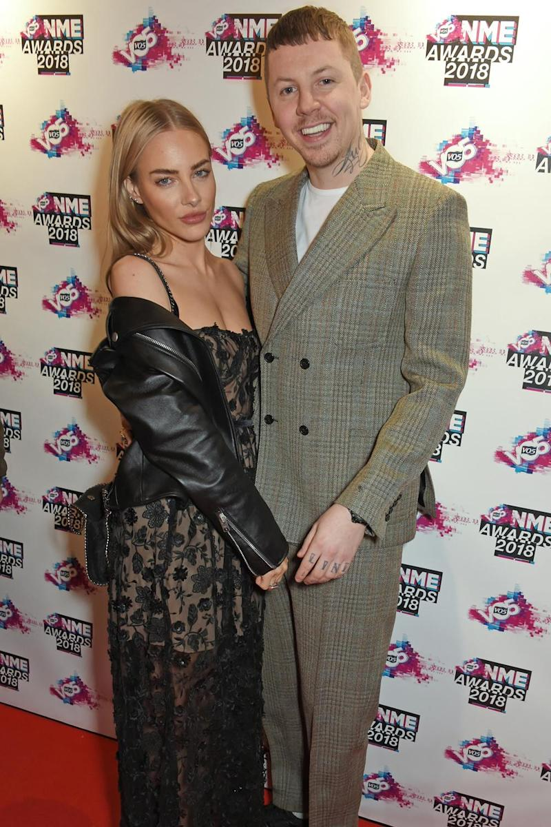 Loved up: Professor Green with his girlfriend Fae Williams (Dave Benett)