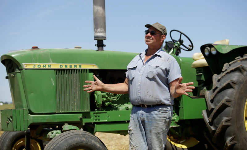 Farmer Mark Klinger talks about U.S. President Donald Trump's $12 billion emergency relief for farmers as he stands on his farm in Pecatonica, Illinois, U.S., July 25, 2018. Photo taken July 25, 2018. (Photo: REUTERS/Joshua Lott)