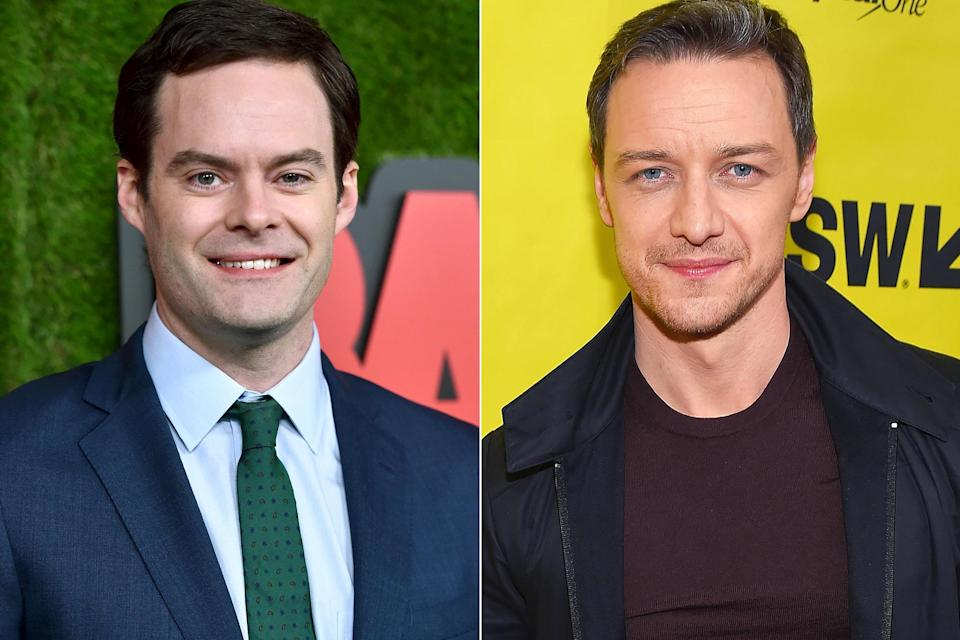 Bill Hader and James McAvoy (Credit: Getty)