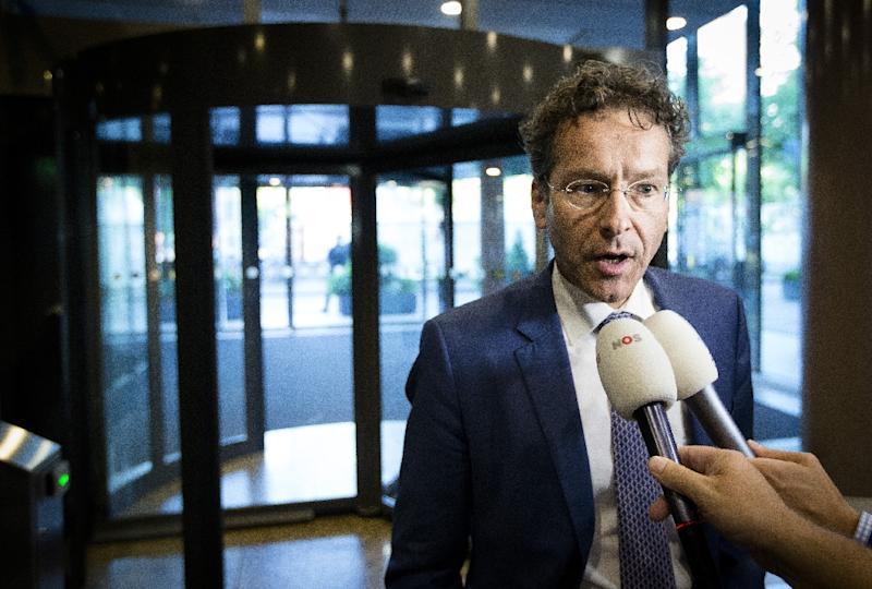 Eurogroup President and Dutch Finance Minister Jeroen Dijsselbloem talks to journalists in the Senate at the Binnenhof in The Hague, The Netherlands on June 30, 2015 (AFP Photo/Bart Maat)