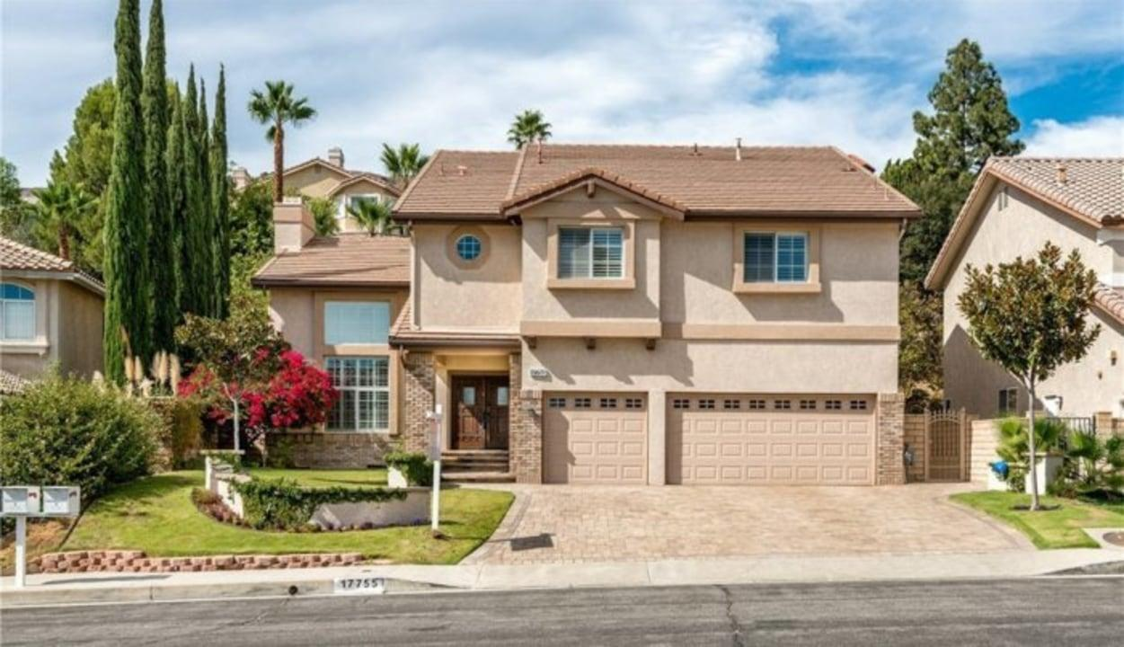 The home has five bedrooms and five bathrooms and is located in the San Fernando Valley area of Los Angeles.