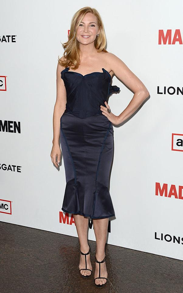 "Jennifer Westfeldt arrives at the Premiere of AMC's ""Mad Men"" Season 6 at DGA Theater on March 20, 2013 in Los Angeles, California."