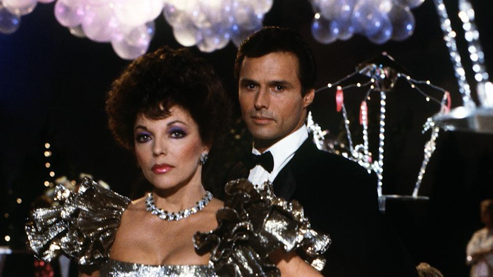 Joan Collins and Michael Nader in 'Dynasty'. (ABC Photo Archives/Disney General Entertainment Content via Getty Images)