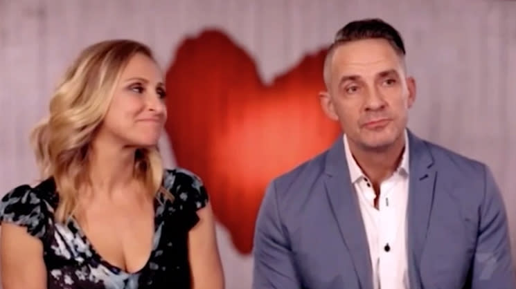 Steve MAFS groom appears on First Dates with blonde woman Fiona in 2018.
