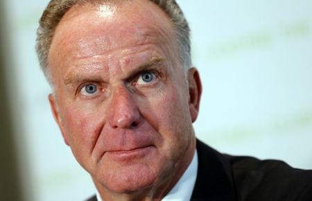 ECA Chairman Rummenigge addresses a news conference in Geneva