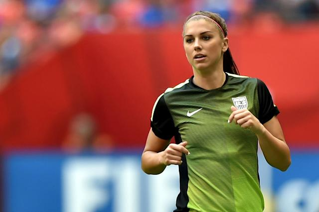 Alex Morgan in action at the 2015 World Cup in Canada. (Photo by Rich Lam/Getty Images)