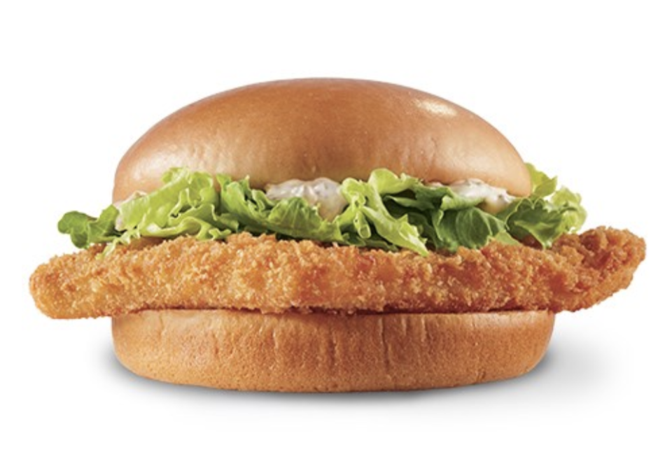 """<p>Lent is the perfect time of year to order Dairy Queen's Wild Alaskan Pollock Sandwich—and you might as well get a <a href=""""https://www.delish.com/food-news/a30626568/dairy-queen-pinata-party-blizzard/"""" rel=""""nofollow noopener"""" target=""""_blank"""" data-ylk=""""slk:Blizzard"""" class=""""link rapid-noclick-resp"""">Blizzard</a> while you're at it! </p>"""